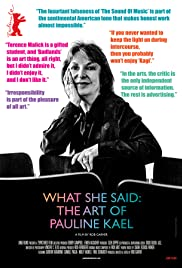 Watch Full Movie :What She Said: The Art of Pauline Kael (2018)
